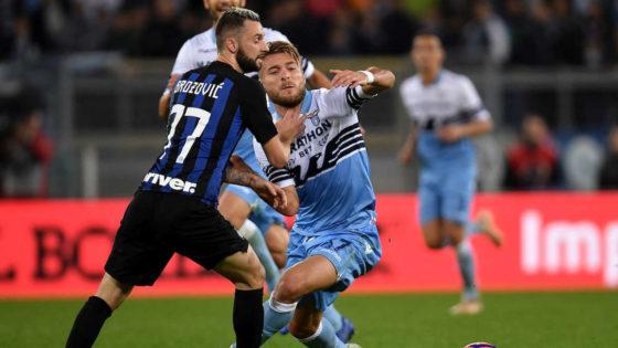 Brozovic e Immobile in Inter vs Lazio, quinta giornata di Serie A