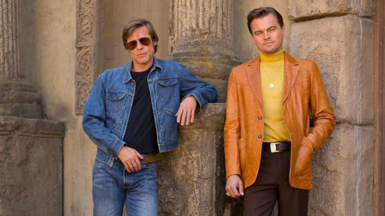 Brad Pitt e Leonardo Di Caprio in C'era una volta a...Hollywood