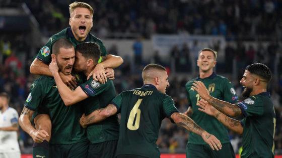 Esultanza della Nazionale italiana di calcio