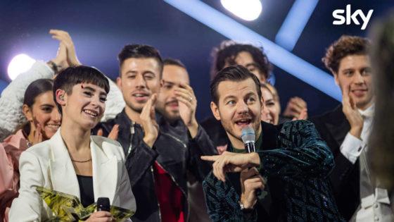 Alessandro Catallan e la vincitrice di X Factor Sofia Tornambene