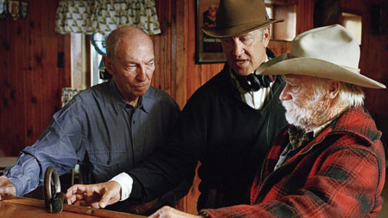 Richard Farnsworth e David Lynch sul set di Una storia vera
