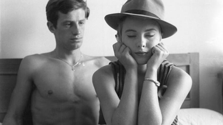 Jean Seberg e Jean Paul Belmondo in una scena tratta da Fino all'ultimo respiro