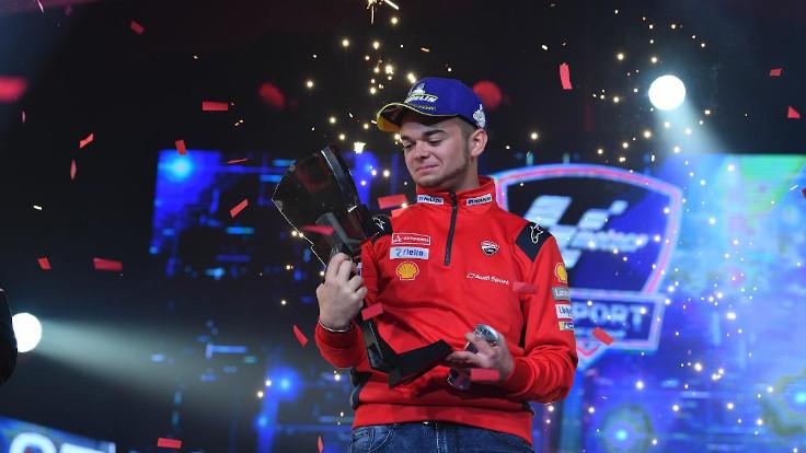 Andrea Saveri, campione del team eSports Ducati nel 2019
