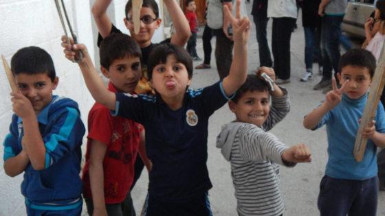 Un gruppo di bambini