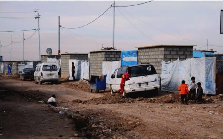 Una strada di Mosul