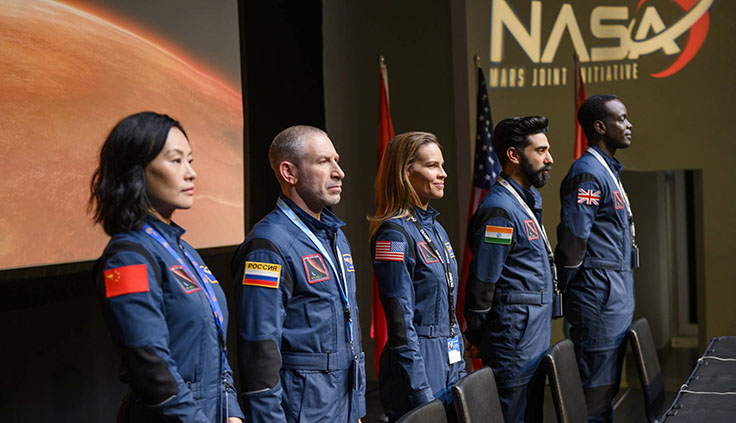 L'equipaggio della nave spaziale 'Atlas'