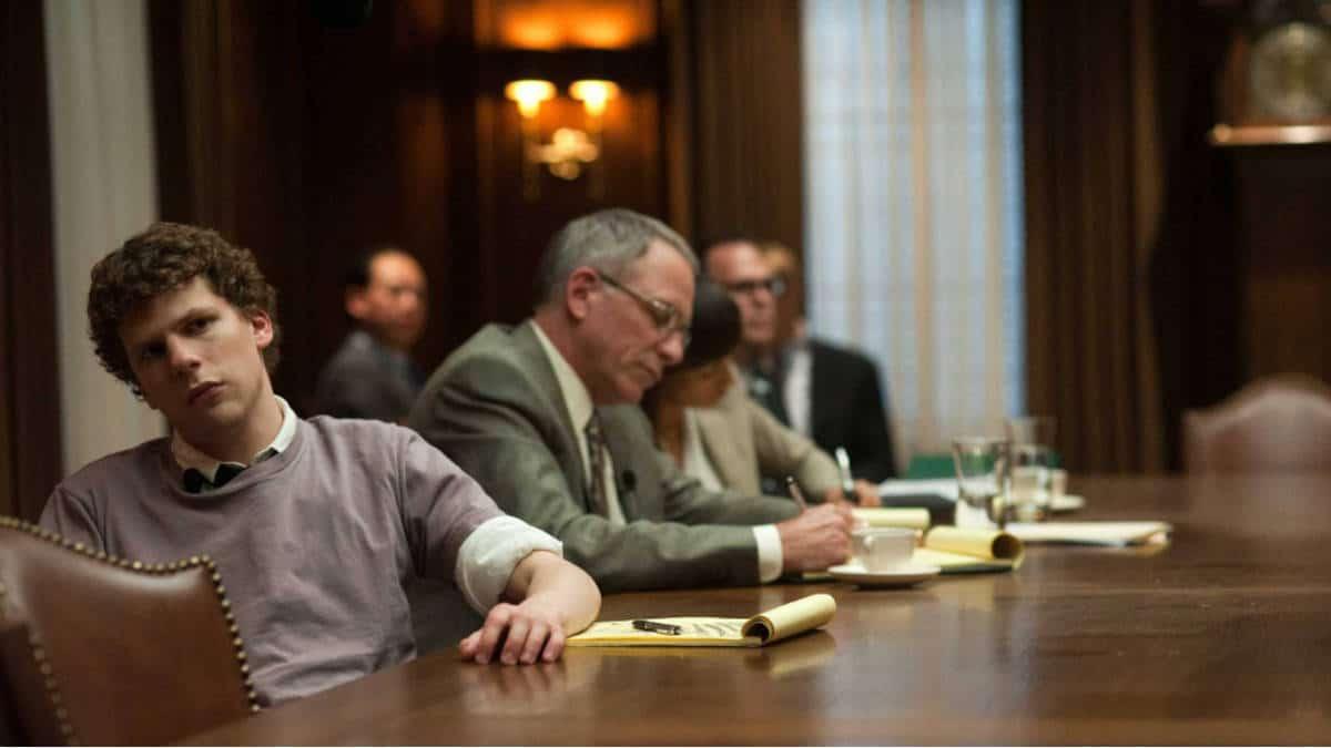 Jesse Eisenberg in una scena di The Social Network
