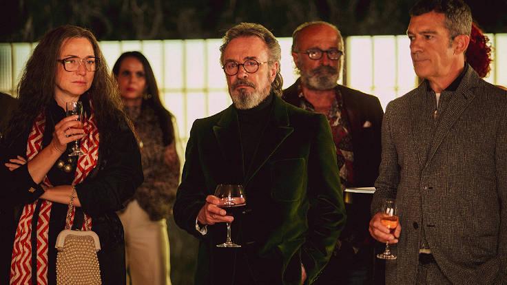 Oscar Martinez e Antonio Banderas in una scena di Competencia Oficial
