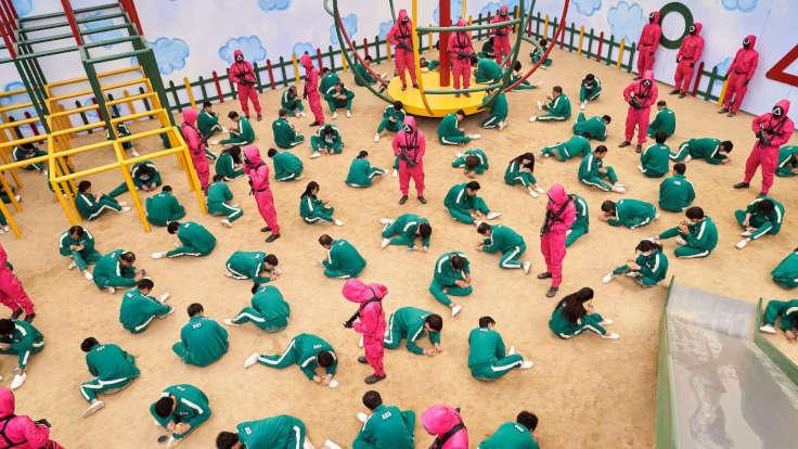 Una scena di Squid Game